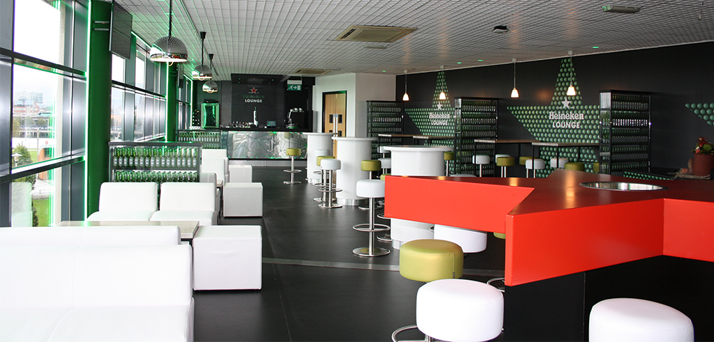 Heineken Lounge Branding