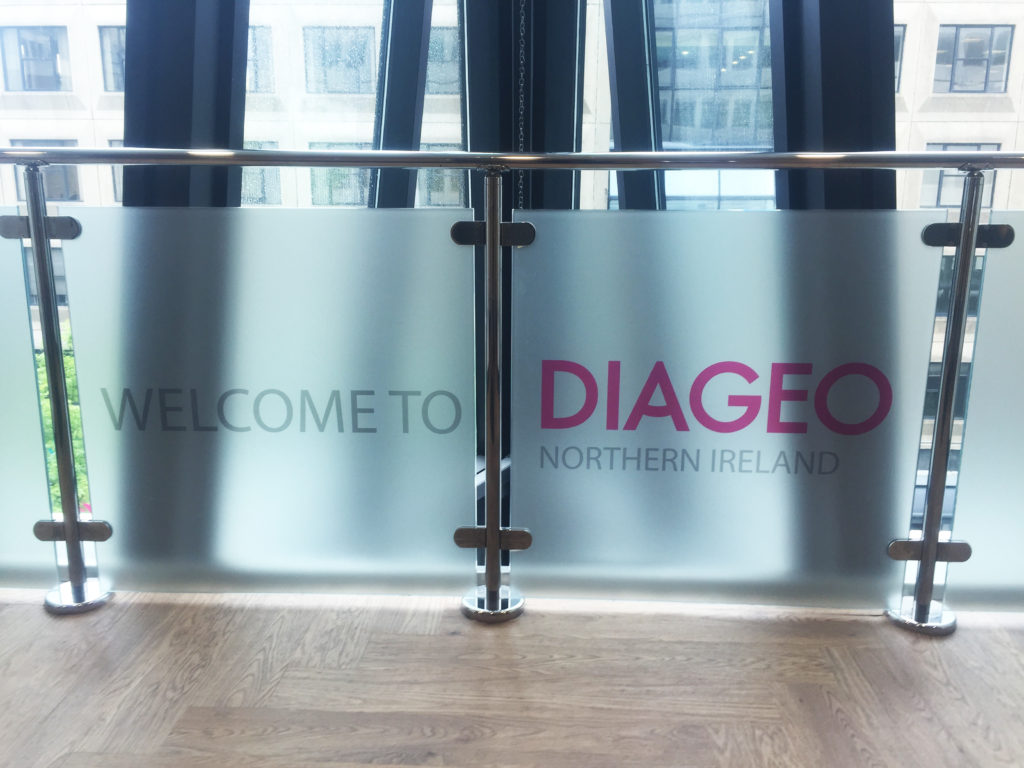 Diageo Window Branding