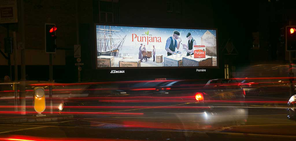 Punjana Tea Outdoor branding