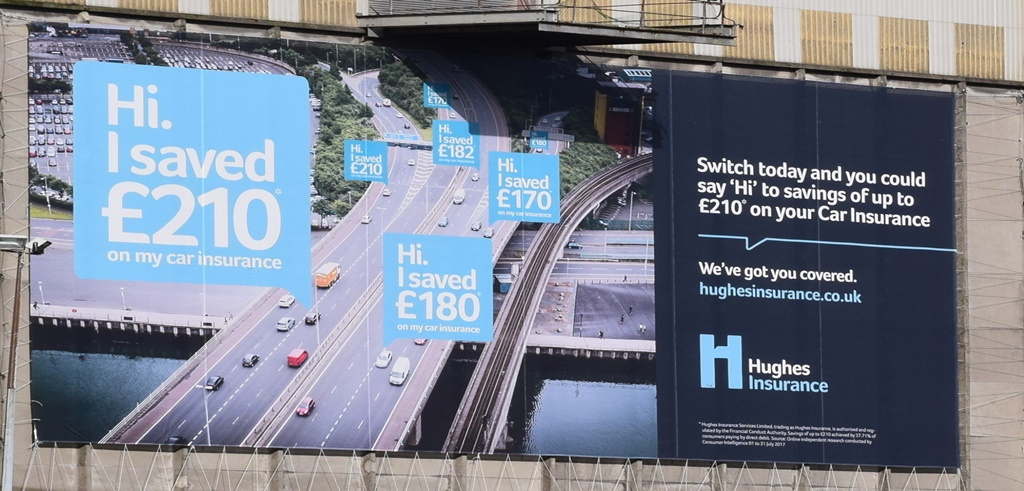 Hughes Insurance Outdoor Advertising
