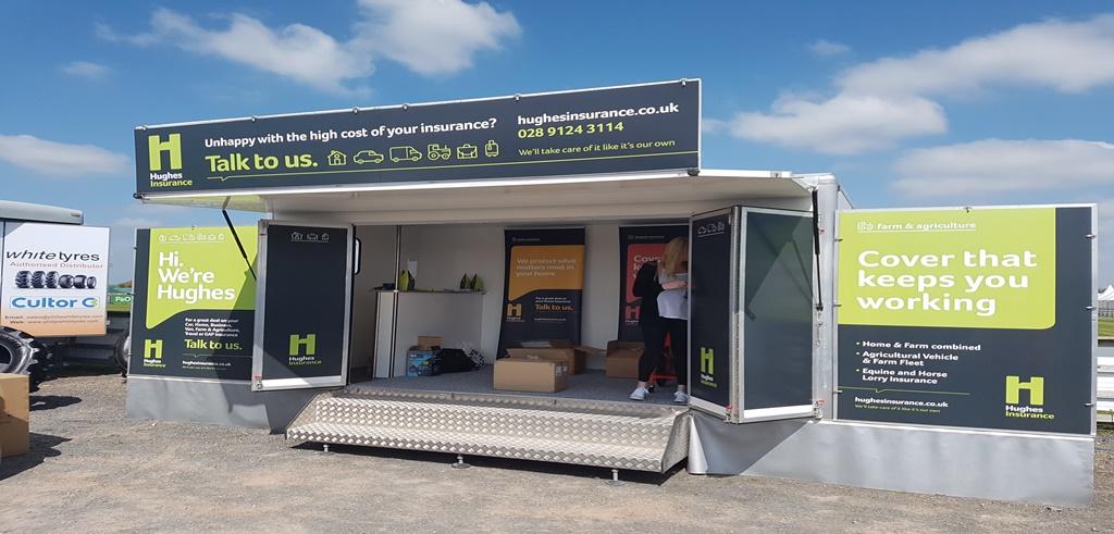 Hughes Insurance Van Branding