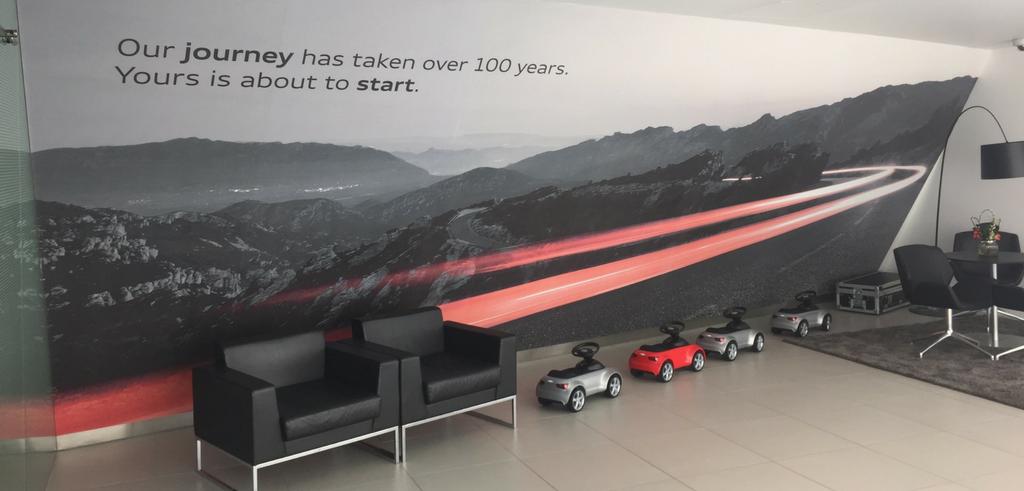 Audi Wall branding