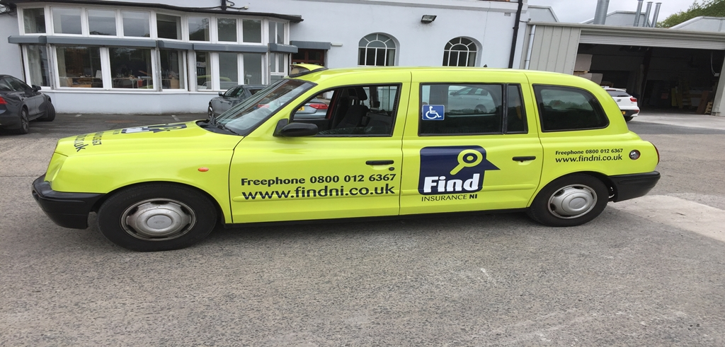 Find Insurance NI vehicle branding