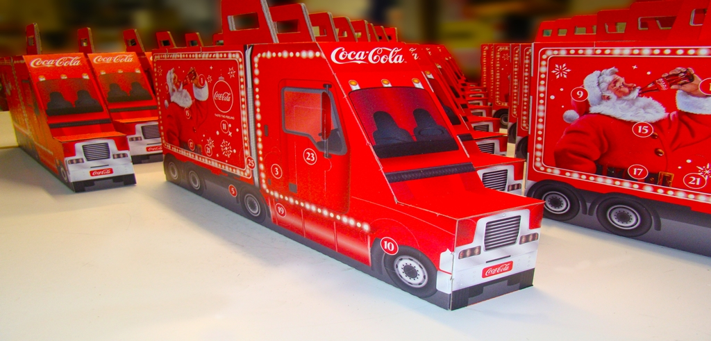 Coke Advent Truck Advertising