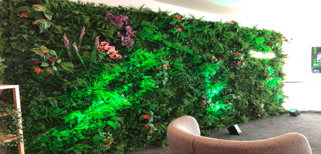 Living Wall Office Branding