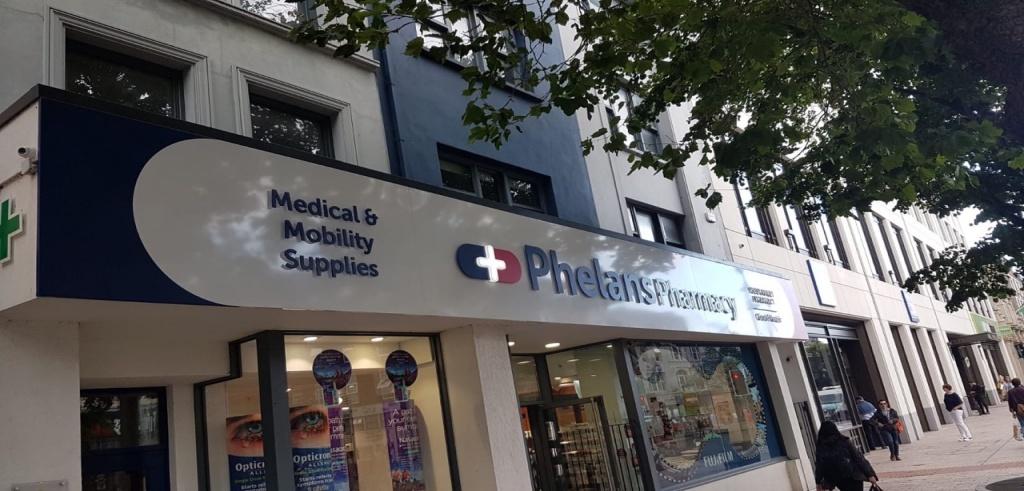 Phelans Pharmacy signage