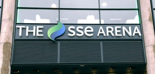 The SSE Arena - Entrance Doors Signage
